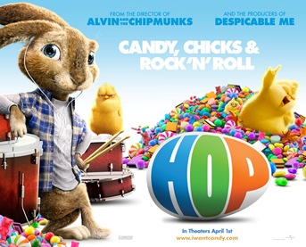 Hop movie showing and snacks April 19th @ 3pm